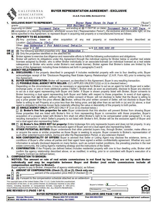 Online Forms Agreements Biz Builder