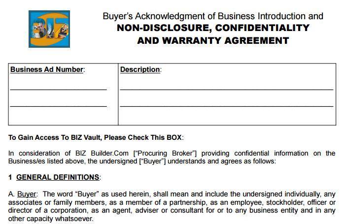 Should I Sign An Nda When Buying A Business  Biz BuilderCom